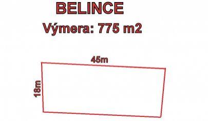 Belince, stavebný pozemok 775 m2
