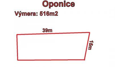 OPONICE  pozemok 516 m2, okr Topoľčany