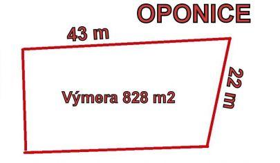 OPONICE stav. pozemok 828 m2, okr Topoľčany