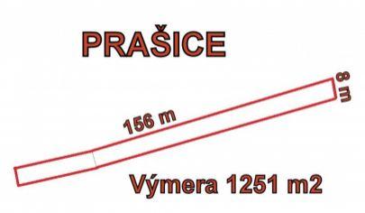PRAŠICE pozemok výmera 1251m2, okr. Topoľčany