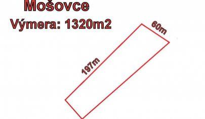 MOŠOVCE stavebný pozemok 1320m2,  okr. T.Teplice