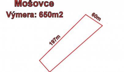 MOŠOVCE stavebný pozemok 650m2,  okr. T.Teplice