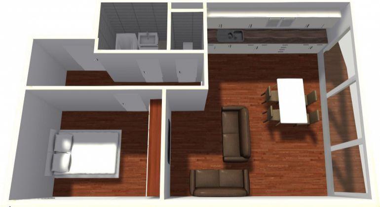 Priestranný 2 izbový byt s balkónom v projekte MEANDER