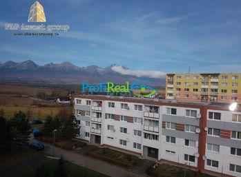 REZERVOVANÉ !!! Kompletne prerobený byt s krásnym výhľadom na Tatry
