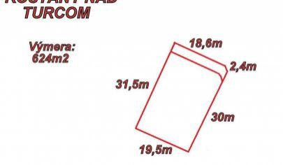 Košťany nad Turcom stavebný pozemok 624m2 okr.Martin