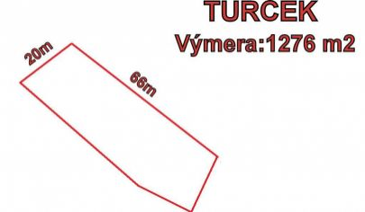 Turček pozemok 1276 m2.okr. Turčianske Teplice