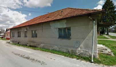 VEĽKÝ ČEPČÍN -  dom, budova  na pozemku 547m2 okr. Turčianske Teplice