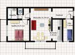 2,5 izbový byt, Svidnícka ul., loggia, balkón