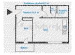 1,5 izb. byt s balkónom, Riazanská ul.
