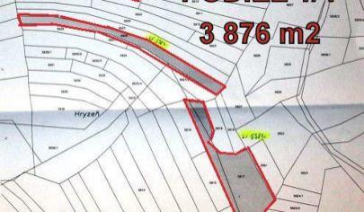 ZÁZRIVÁ časť Kozinská, predaj podielov výmera 5045 m2, okr. Dolný Kubín
