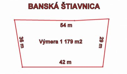 BANSKÁ ŠTIAVNICA  pozemok pre priemyselnú výstavbu 1179m2