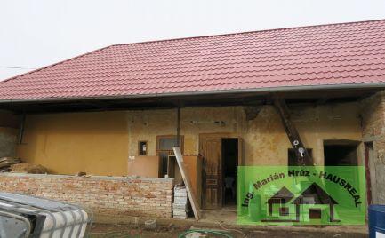 RD s novou strechou, 50 m2, 17 árový pozemok, záhradný domček, Pozba