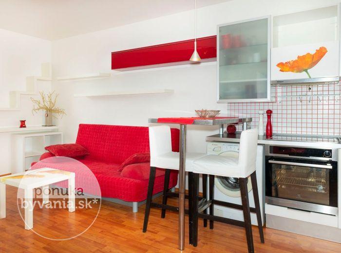 PRENAJATÉ - TOMÁŠIKOVA, 1-i byt, 49 m2 – byt s VEĽKOU LOGGIOU v novostavbe a v blízkosti Kuchajdy