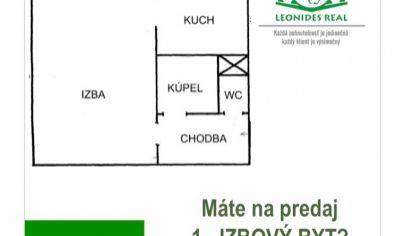1 - izbový byt Košice