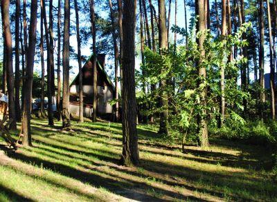 Murovaná chata na Tomkoch s krásnym výhľadom na les a jazero