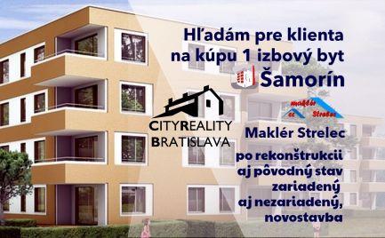 Hľadám pre klienta 1 izbový byt Šamorín
