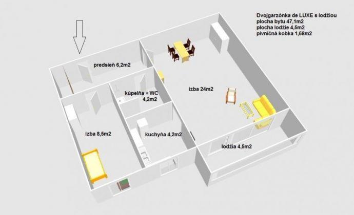 Ponúkame na predaj 2 dvojgarzónku De Luxe s lodžiou, Bratislava-Petržalka
