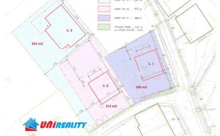 Okres TRENČÍN – obec  SVINNÁ – 3 stavebné pozemky aj s vydaným PRÁVOPLATNÝM stavebným povolením, a tiež s PROJEKTOM  DOMU