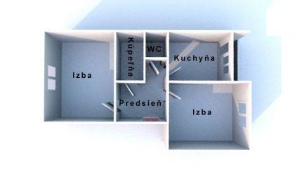 BÁNOVCE NAD BEBRAVOU- 2 izbový byt / DUBNIČKA / pôvodný stav