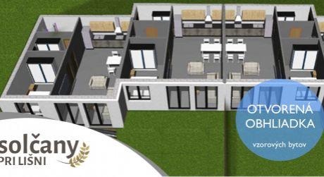 Solčany / nové 2 izbové byty v projekte Pri Lišni