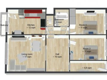 ... REZERVOVANÉ ...BPV GROUP, S.R.O. VÁM PONÚKA 3i byt v Novej Dubnici po kompletnej rekonštrukcii.