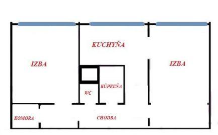 ZĽAVA - Veľký 2 izbový byt,  56  m2, B. Bystrica,  - Fončorda - cena 68 000€