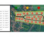Stavebné pozemky v Ivanovciach, rôzne výmery: od 566 m2  do 903 m2 , všetky IS / nová lokalita