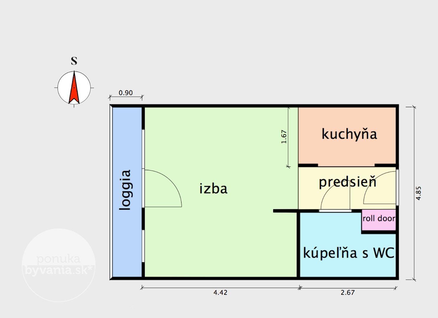 ponukabyvania.sk_Zuzany Chalupovej_2-izbový-byt_MICHÁLKOVÁ