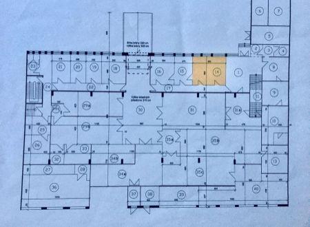 Skladové priestory 80,4m2 + príručná kancelária 18m2, Líščie Nivy, Ružinov