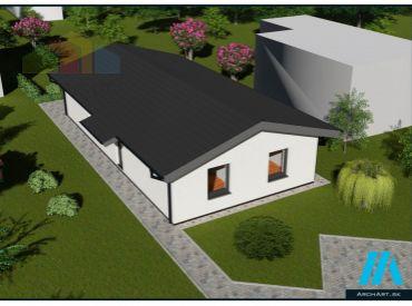 Rodinný dom - BUNGALOV Dubnica nad Váhom, NOVOSTAVBA na kľúč, pozemok 406 m2