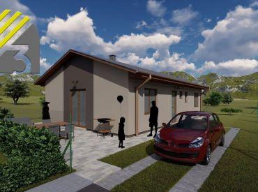 Predaj 4-izbovej novostavby RD v obci Brezany, 104,4 m2, Cena: 154.800 €