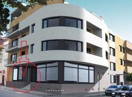 Obchodný priestor 43 m2, novostavba, Piešťany, centrum