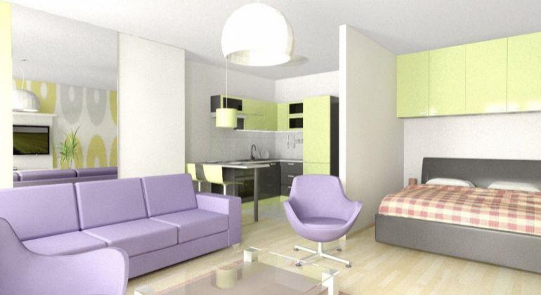 VEĽKÝ 1 izbový byt s predzáhradkou  v projekte OPPIDUM
