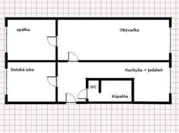 Okružná 3 izbový byt