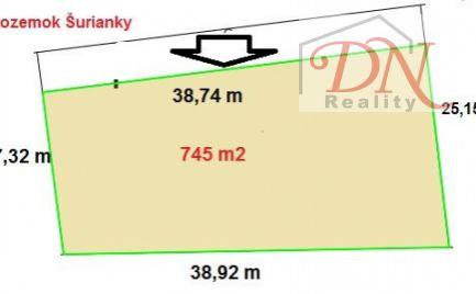 Exkluzívne u nás! Predaj pozemku Šurianky - 745 m2