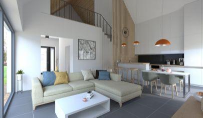 Na predaj 4 izbový byt-súčasť dvojdomu, v Šamoríne so záhradkou a dvomi parkovacími miestami, BYT 2B