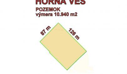 HORNÁ VES  stavebný pozemok na podnikanie 10940 m2