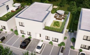 4 izb byt 117,2 + 94,5 m2 terasa, tehlová stavba, vlastný kotol, podlahové kúrenie, 2x parkovanie, skolaudvané