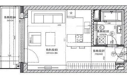 Nadštandardný 1 izbový byt s balkónom v atraktívnej lokalite blízko centra Bratislavy