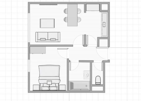 PREDAJ 2 izbový byt Cubicon Gardens II, 44m2