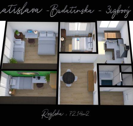 3i priestorný byt -  dobrá lokalita - Budatínska - Petržalka - StarBrokers