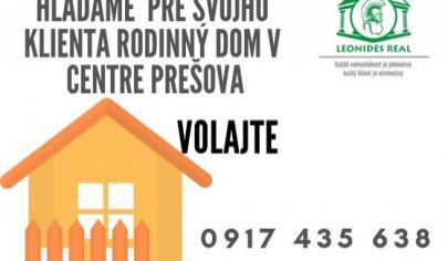 Rodinný dom mesto Prešov