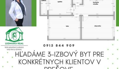 3 - izbový byt Prešov