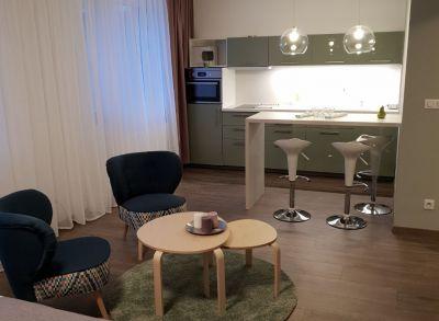 Ponúkame na prenájom 1 izbový apartmán 50m2 + garážove státie v Novostavbe STEIN.