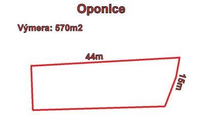 OPONICE stavebný pozemok 570 m2, okr Topoľčany