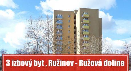 Na prenájom priestranný 3-izbový byt na rozhraní Ružinova a centra mesta