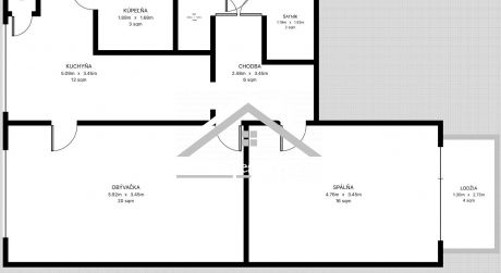 Predaj 2 izbového bytu s loggiou Zvolen