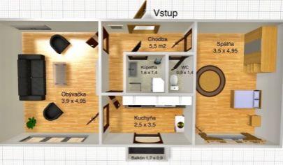 REZERVOVANÉ_2 izbový byt v Košiciach