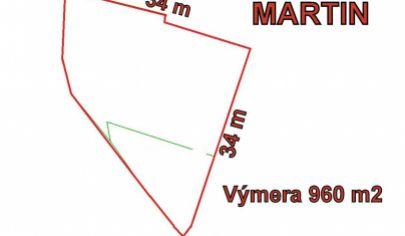 MARTIN stavebný pozemok 960m2 časť Stráne