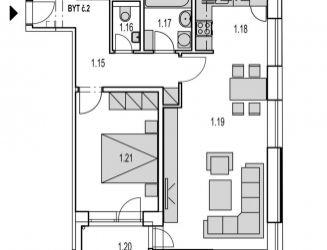 2 izbový byt (M2) v novostavbe s parkovacím miestom, Byty MAXIM - Martin - Podháj